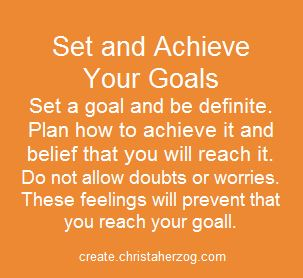 set and achhieve your goals