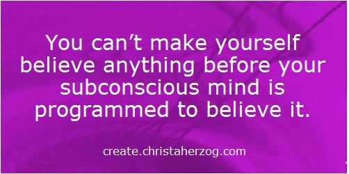 What you believe is programmed