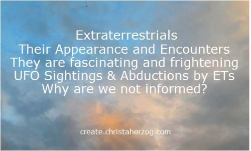 Extraterrestrials appearance and encounters