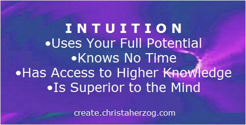 Intuition uses your full potential