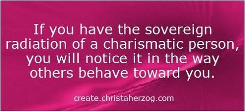Souvereign radiation of a charismatic person