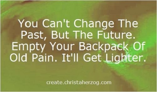 You can't change the past, but the future