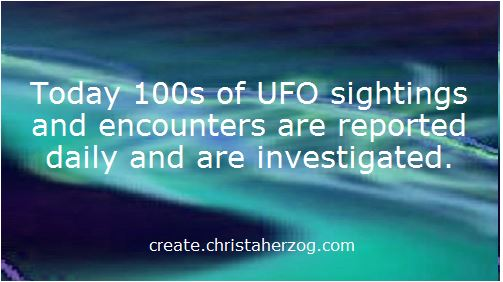 UFO Sightings and Encounters with ETs reported
