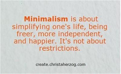Minimalism is