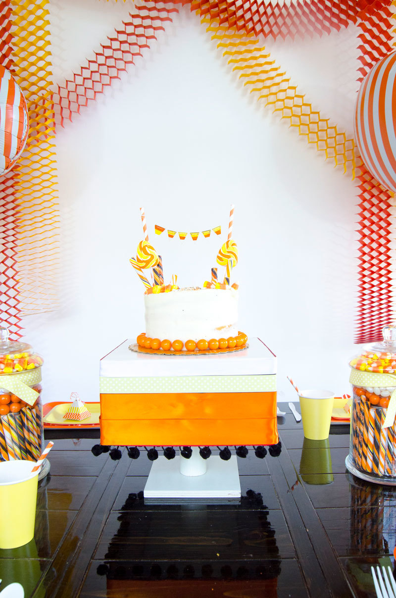 How To Decorate A Store Bought Cake and a Candy Corn Cake Example!