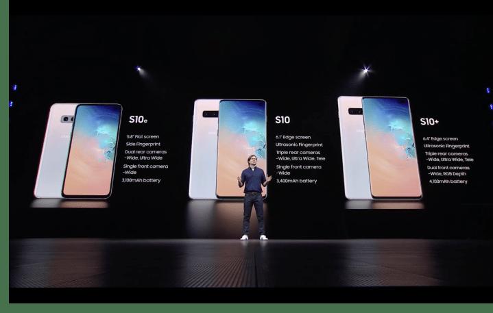 Samsung S10, S10+, S10e