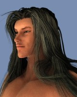 Garibaldiで長髪黒髪を作成した。