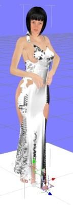 【Daz3D】Victoria6にV4のダイナミッククロスを着せる方法。【Daz Studio4.6】