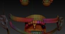 【ZBrush4R6】3Dで『進撃の巨人』の50メートル級巨人を作ってみる。20【Daz3D】ZBrushでテクスチャマップに色を塗る。