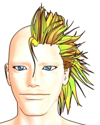 【Autodesk Maya 2014】Ryanの髪を作る 13【カーブ&押し出し】