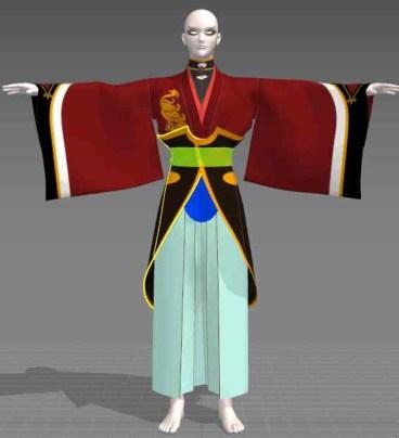 【MD4】3dで和泉守兼定の服を作る。13 腰飾りのテクスチャを作る。