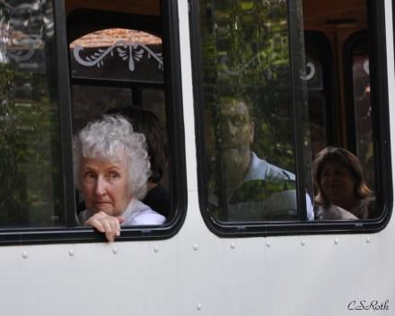 Mom on a bus
