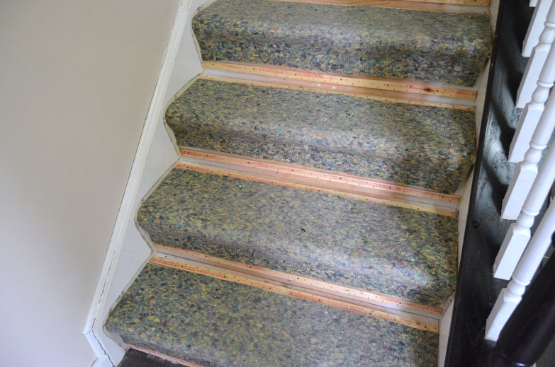 Staircase Makeover Create And Babble   Best Carpet Padding For Stairs   Wooden Stairs   Non Slip   Rebond   Stair Tread   Rug