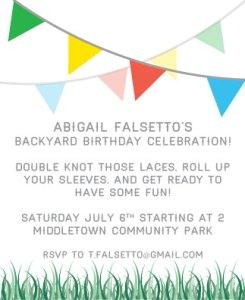 Abigail's Backyard Birthday Invite