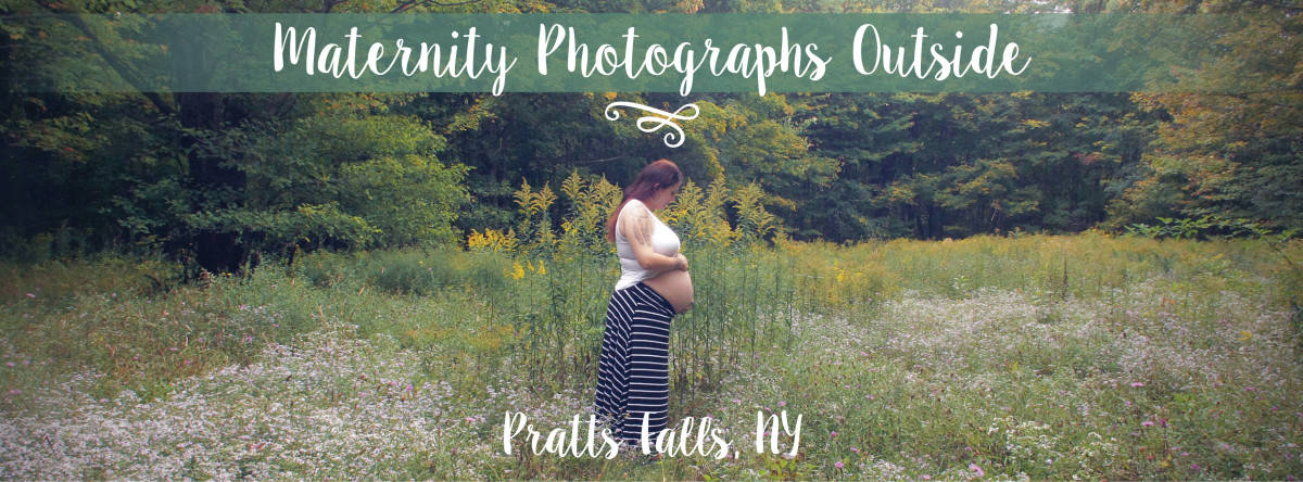 Maternity Photographs Outside | Pratts Falls, NY