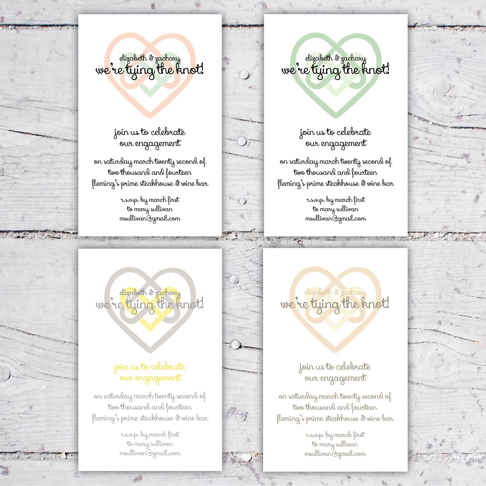 Celtic Style Heart Knot Tying The Knot Engagement Announcement or Party Invitation | 5x7 | Digital Download | Printable | Custom Invitation