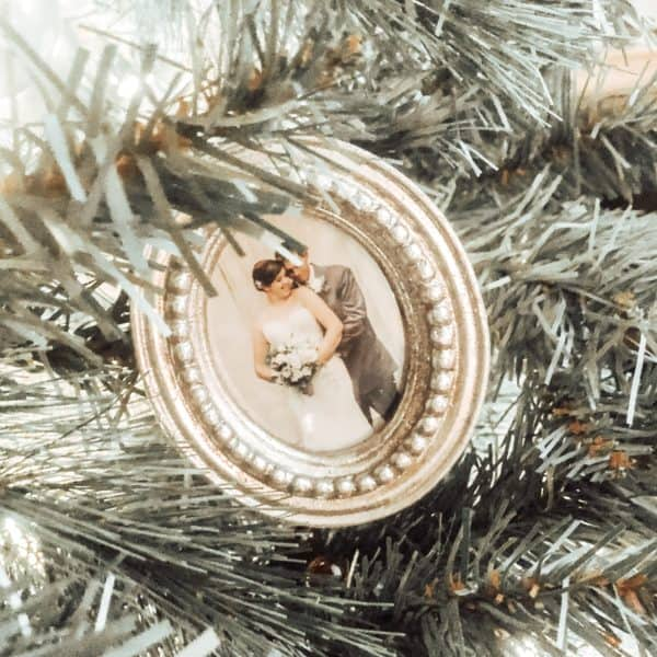 Silver Picture Frame Christmas Ornament