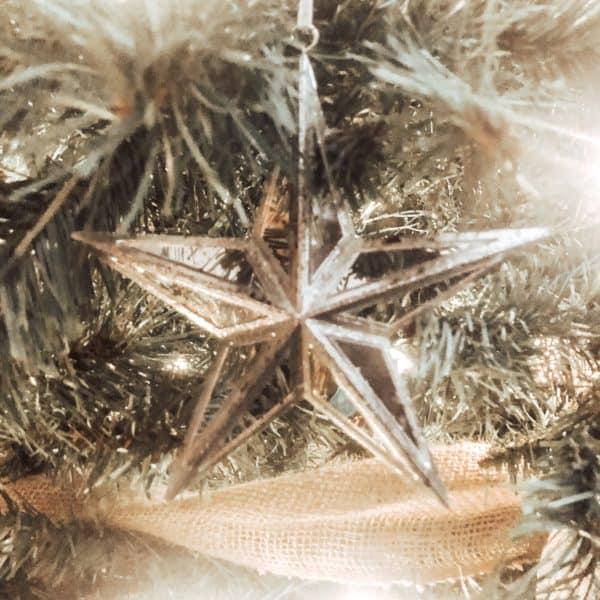 Maker's Holiday Christmas Rose Gold Mirror Starburst Ornament