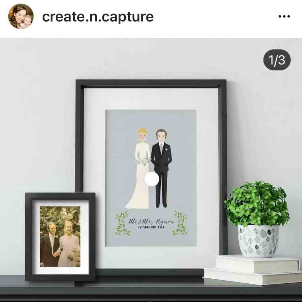 Personalized Bride & Groom Portraits from Create&Capture on Etsy | 2020 Gift Guide