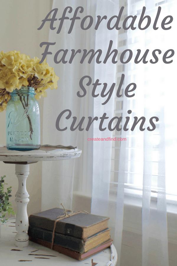 11 Budget Friendly Modern Farmhouse Curtains on Farmhouse Bedroom Curtain Ideas  id=80549