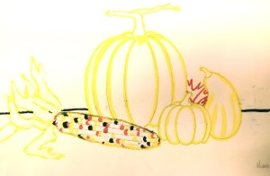 Pumpkin Watercolor Still Life Painting