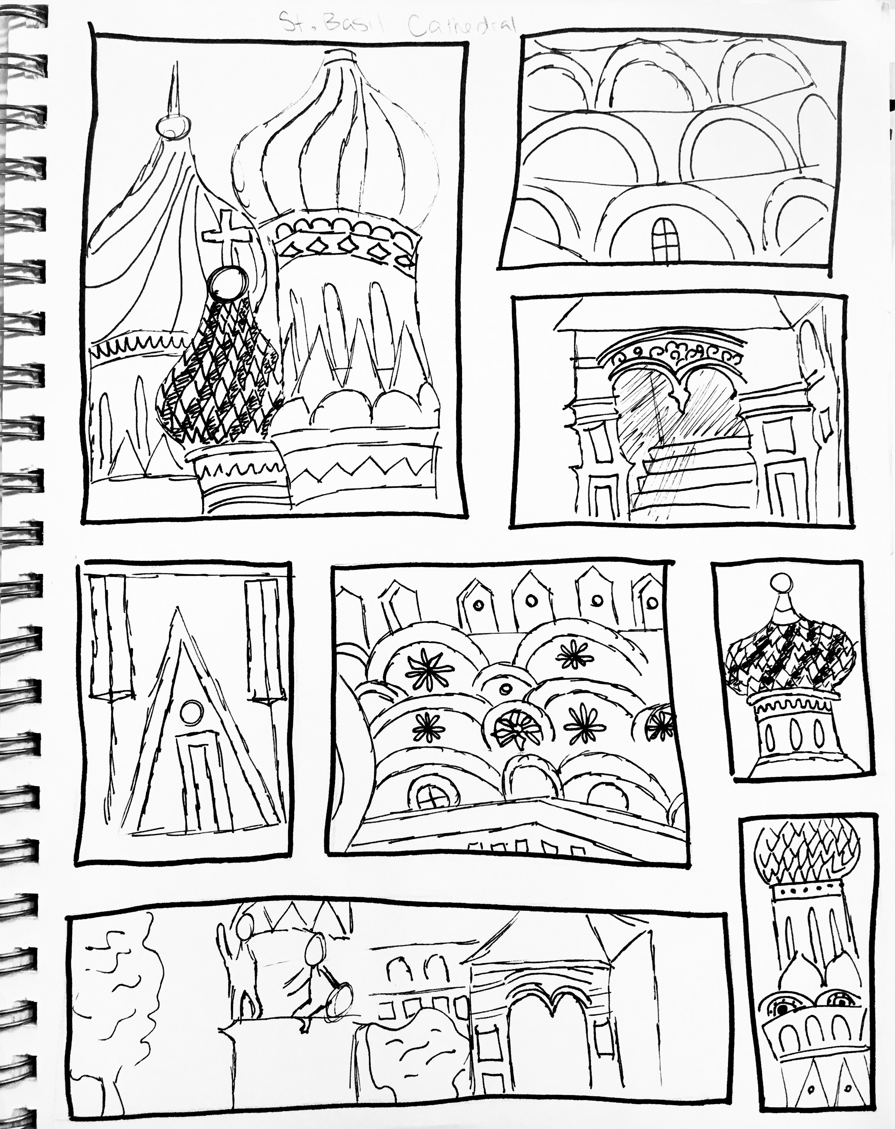 Architecture Grid Drawing Sketchbook Assignment Ideas