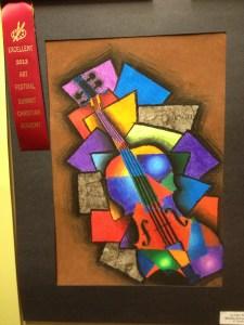 Cubism violin by Ju Han