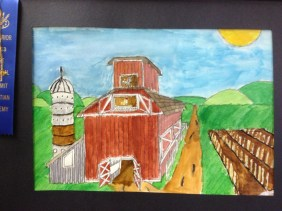 One Point Perspective Barn by Grant