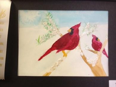 Watercolor Cardinal by Joe