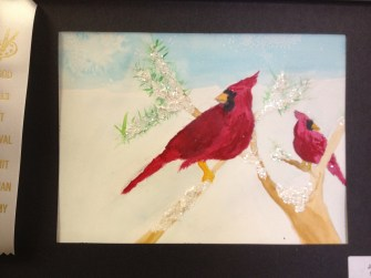 Watercolor Cardinal by Joe
