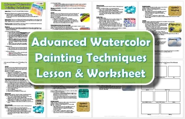 Advanced Watercolor Painting Techniques Lesson Plan & Worksheet