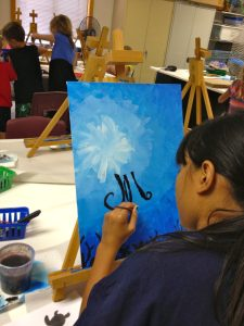 Under the Sea Silhouette Painting