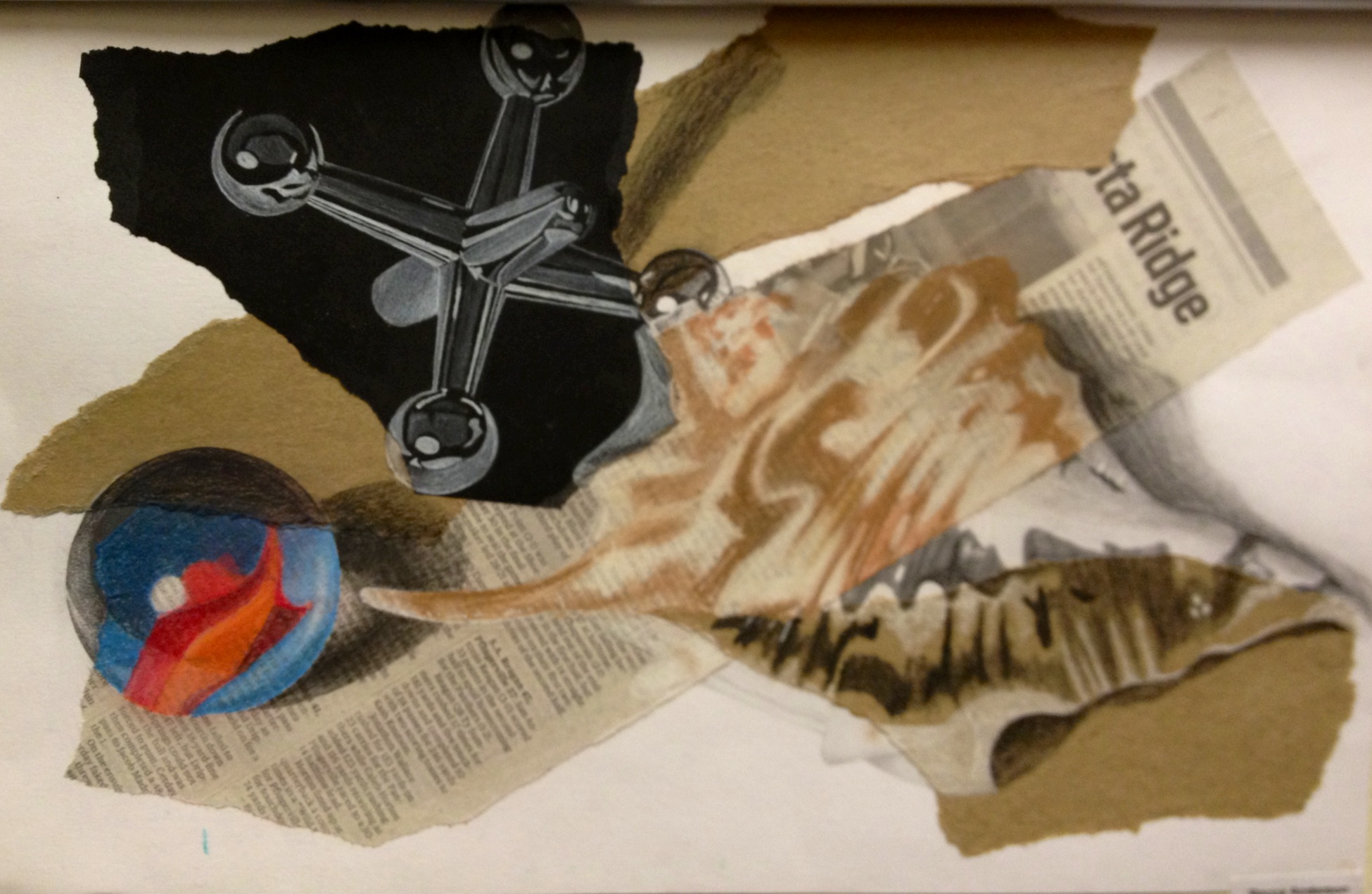 Mixed Media Still Life Drawing Amp Collage