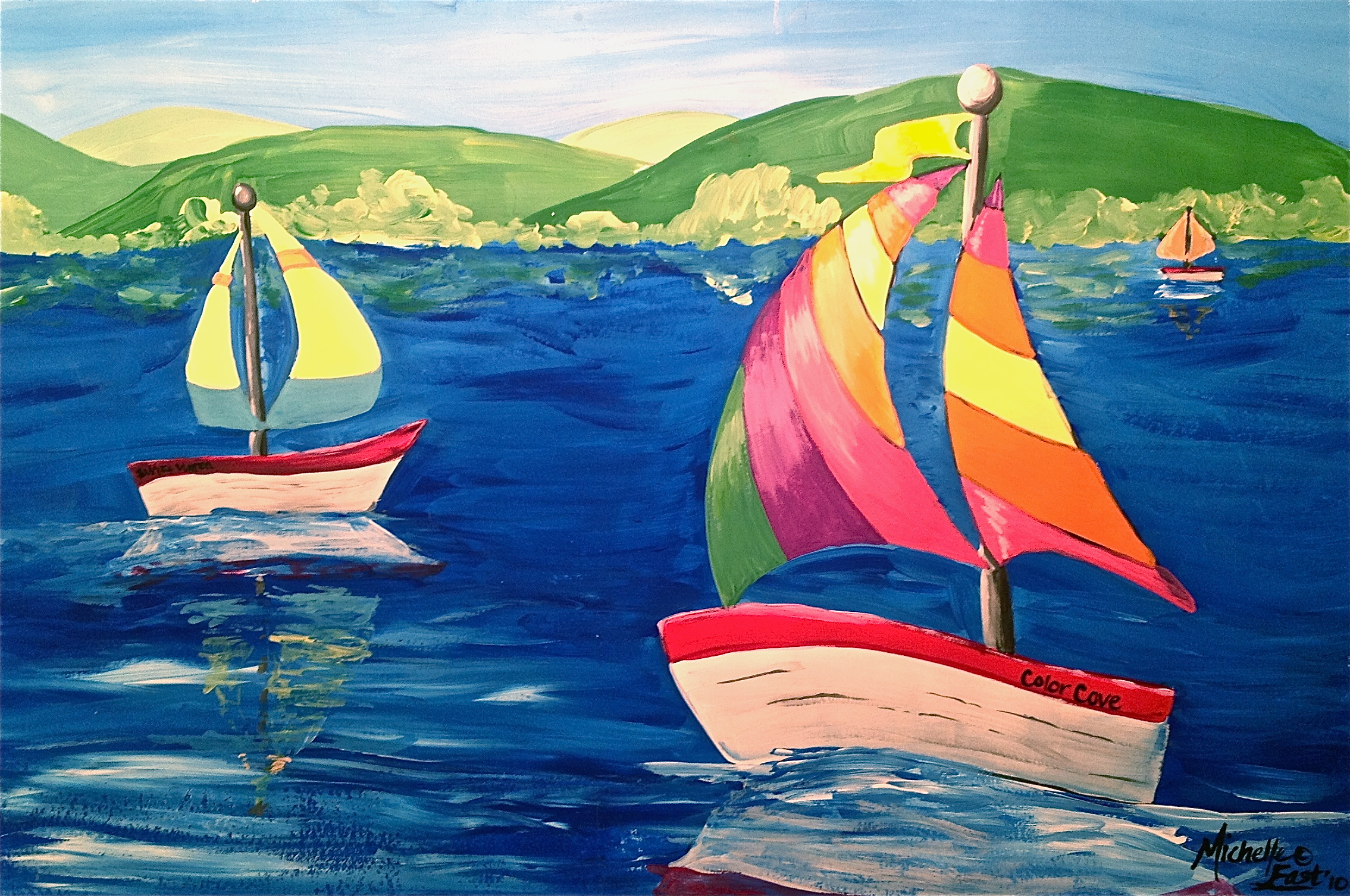 Space And Claude Monet Sailboat Art Lesson