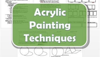Acrylic Painting Techniques Lesson Plan Worksheet