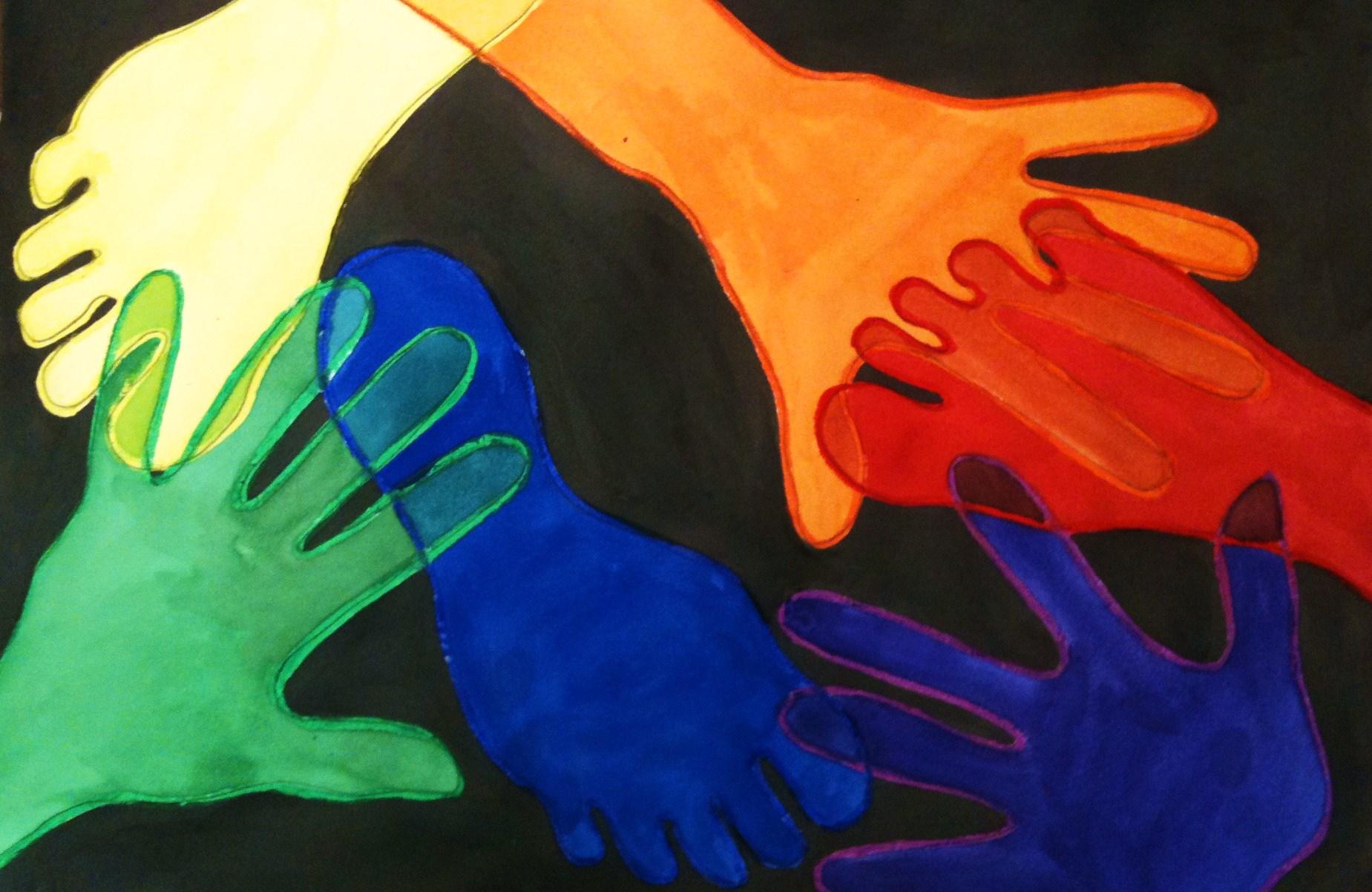 Foot Amp Hand Color Wheel Crayon Resist