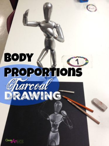 body proportions mannequin Charcoal Drawing