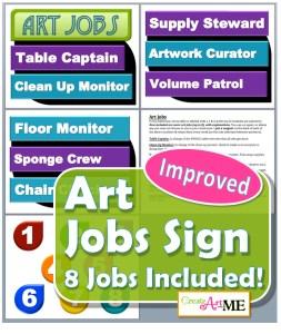 Art Jobs Printable Sign
