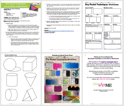 Dry Pastel Techniques Lesson Plan & Worksheet 2020 preview