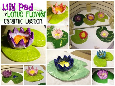 lily pad lotus flower ceramic slab pinch pot lesson