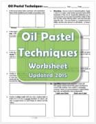 Oil Pastel Techniques Worksheet