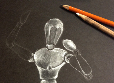 mannequin charcoal drawing Observational drawing skills