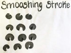 Sumi-e Smooshing Stroke