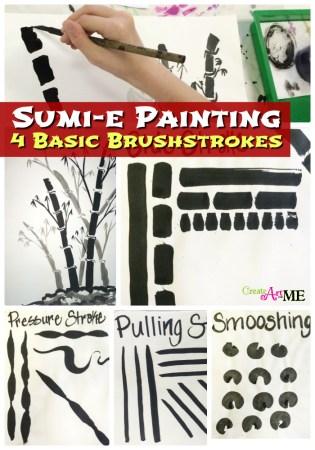 sumi-e 4 brushstrokes lesson