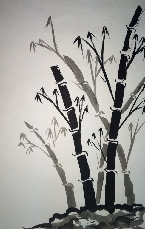 Sumie Painting bamboo