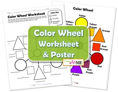 Color Wheel Worksheet & Poster