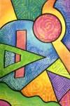 Non Objective Texture Crayon Resist