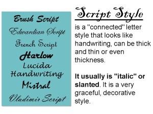 Lettering Basics Script Style