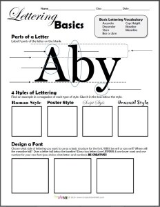 ypography Lettering Basics Worksheet