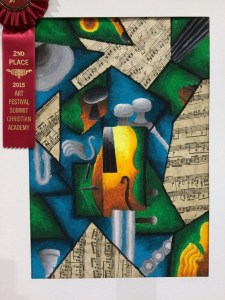 Art lesson cubism music instrument art lesson